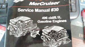 MERC # 90-863161030 #30 SVC MANUAL 496cid/8.1L GAS ENGINES S/N 0M000000 #4 & 5