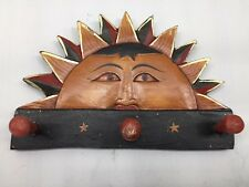 Lot of 18 Hand Crafted Painted Sun / Sunflower Coat Hanger Hangers New Indonesia