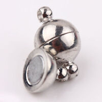 10Pc Silver Plated Strong Magnetic Round Ball Clasp Connector Jewelry Making 8MM
