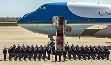Air Force One Group Photo with President Barack Obama and Crew in Formation