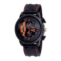 Black Orange Watch Designer Fashion Watch Geneva Silicone Band Men Sport