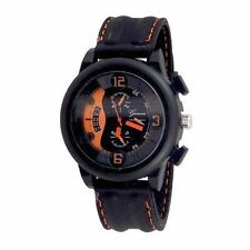 Black Orange Watch Designer Fashion Watch Geneva Silicone Band Men Sport