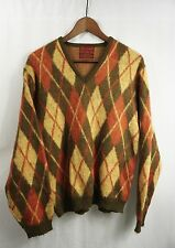 vintage 70s ARGYLE MOHAIR SWEATER - Medium grunge/nirvana/punk Kings Road Sears