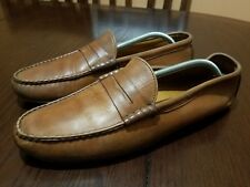 ALLEN EDMONDS Winthrop Men Brown Leather Driving Loafers Size 11.5 B **Narrow