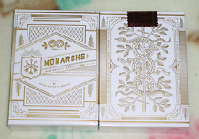 1 Deck White Gold Monarchs V2 Playing Cards Rare New Sealed Theory11 S102763左