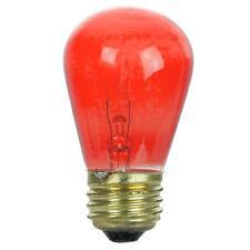 11S14/R, 11 Watt Red S14 Medium (E26) Base Light Bulb 11S14