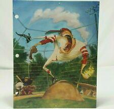 Mead BackStreets Portfolio Folder Baseball Vintage 90s School Sports Art 1996