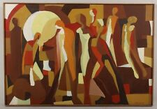 Arnold Weber, AMERICAN ABSTRACT EXPRESSIONIST OF NUDE FIGURE OIL SIGNED DAT 1967