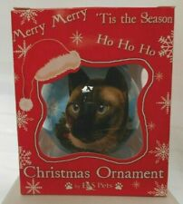 NEW Siamese Cat Ornament Christmas Ball from E&S Pets