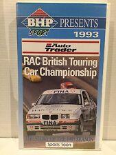1993 AUTO TRADER RAC BRITISH TOURING CAR CHAMPIONSHIP~ RARE AS NEW PAL VHS VIDEO