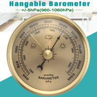 Vintage Bronze Wall Hanging Barometer Weather Station Thick 28mm 960~1060hPa