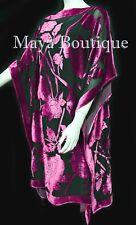 Caftan Dress Kimono Silk Burnout Velvet Pink Black Hand Dyed Maya Matazaro
