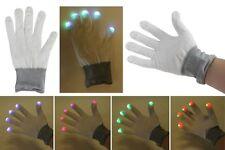 """Handschuhe mit LED weiss """"klein"""" mit Farbwechsler, Leuchthandschuhe Scherz Gag"""