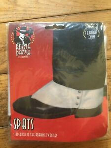 Smiffys 1920s Spats White shoe covers