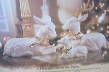 Porcelain Deer Family Grandeur Noel Collector's Ed. 1999 Christmas Reindeer Nib
