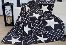 Kuscheldecke Patchwork 150x200 cm mit Sternen Wohndecke Sofadecke  3 Farben TOP