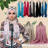 Women Muslim Islamic Tassel Long Hijab Scarf Shawl Wrap Pashmina StoleDD