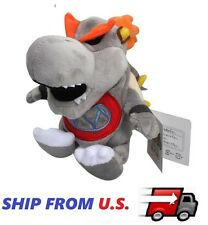 "NEW Super Mario - 7"" undead Dry Bowser Jr Koopa Soft Stuffed Plush Toy US seller"