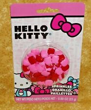 Hello Kitty Candy Sprinkles,Cupcake Toppers,Edible,Wilton.710-4624,Pink,Red