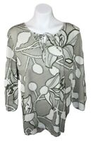 Womens Chicos Size 3 NEW cotton floral tunic top blouse