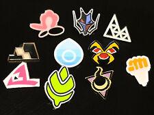 Complete Set of 10 Galar Gym Pin Badges - Pokemon