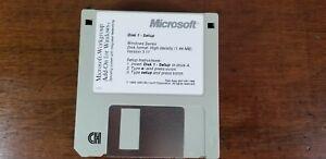 "Microsoft Windows For Workgroups  3 1/2"" 3.5"" Floppy Disk  1993  9xDisks"