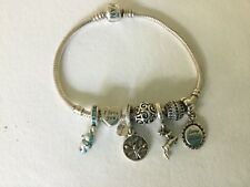 "Pandora Bracelet 8"" & Seven Charms Loving Mother Seahorse Family Tree"