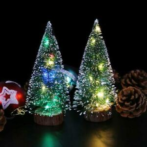 Tabletop Artificial Small Mini Christmas Tree With LED Lights Ornaments Xmas New
