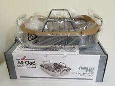 ALL CLAD STAINLESS STEEL 11 X 14 ROASTER PAN WITH RACK NEW FREE SHIPPING