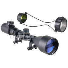 3-9x56E Red Green Air Rifle Gun Mil-dot Illuminated Optics Sniper Hunting Scope