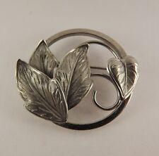 Pin .925 Solid 2.8 Grams Vintage Sterling Silver Beautiful Vine Leaves