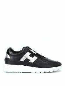 HOGAN Donna H371 Sneaker pelle nera e argento N38,5 e 39 SCONTO 50%