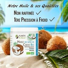 Huile de Coco - 500 ml - Bio Naturelle Vierge Pure - Vegetariens Vegetale