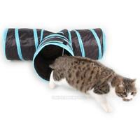 Cat Toy Tunnel Foldable Pet Kitten Rabbit Funny Play 3 Way Tunnel Toys Gifts