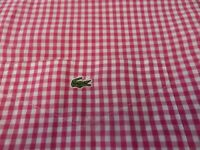 100% GENUINE DEVANLAY LACOSTE SHORT SLEEVE CHECK SHIRT IN SIZE 43 XL/XXL