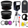 55MM HD WIDE ANGLE LENS +ULTRA HD ZOOM LENS + TRIPOD +FLASH  KIT FOR NIKON D3500