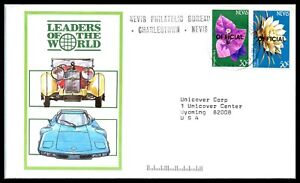 1980s NEVIS Cover -Nevis Philatelic Bureau, Charlestown to Cheyenne, Wyoming D1