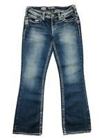 NWT Silver Jeans Aiko Bootcut Womens 28x31 Blue Stretch Denim Thick Stitch