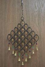 Handmade Rusty Iron Metal Bells Wind Chime Garden Yard #F-1086