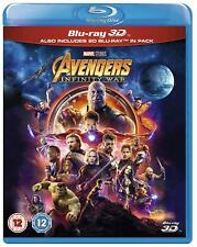 Avengers INFINITY WAR (2018) 3D + 2D Blu-Ray BRAND NEW (In Stock NOW)