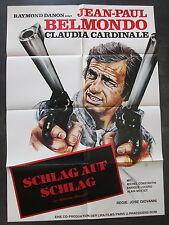SCHLAG AUF SCHLAG - Filmplakat A1 - Jean-Paul Belmondo - Claudia Cardinale