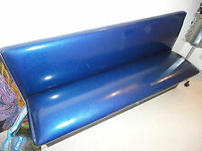 Panca lunga vintage America anni '50 blu metalflake