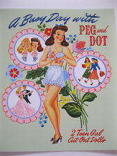 A Busy Day With Peg And Dot - Wonderful Miloche reproduction