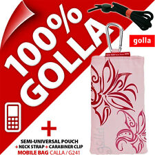 New Golla Pink Phone Case Cover Pouch Bag for / fits Nokia Samsung E1200, E1270