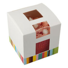 Single Cupcake Box with Window Stripe Design Cake Birthday Party Wedding Favours
