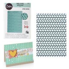 Sizzix Embossing Folders Woven Folder 3D Basket Weave Wicker 661261