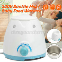 Electric Baby Milk Bottle Food Heating Warmer Feeding Sterilizing Heated
