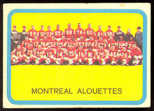 1963 TOPPS CFL FOOTBALL #49 MONTREAL ALOUETTES TEAM EX CONDITION  CARD