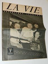 1947 LA VIE CATHOLIQUE ILLUSTREE n°107 paris-le fayet 13 congrès NANTES st marie