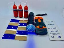 Reparaturset für Glasmöbel, 30g Kleber, Quetschbare Flasche, 21 LED Taschenlampe
